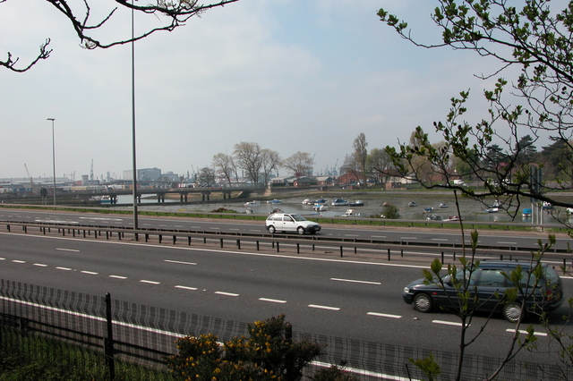 View across the M275