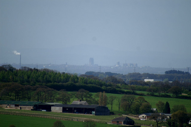 Liverpool from the Parbold Viewpoint