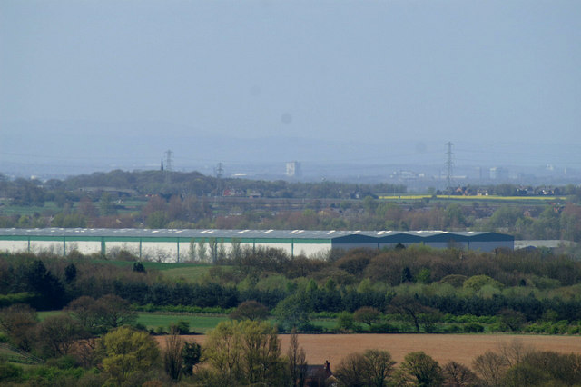 Skelmersdale from the Parbold Viewpoint