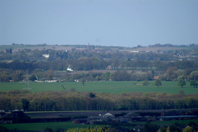Ormskirk from the Parbold Viewpoint