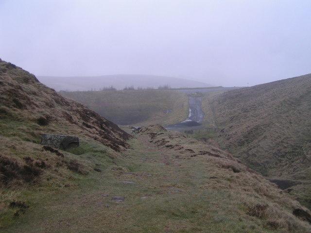 Old course of A53, Axe Edge