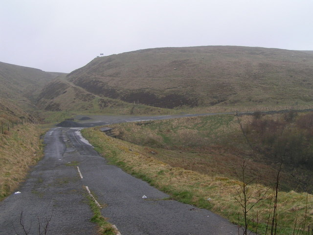 Old course of A53, Axe Edge