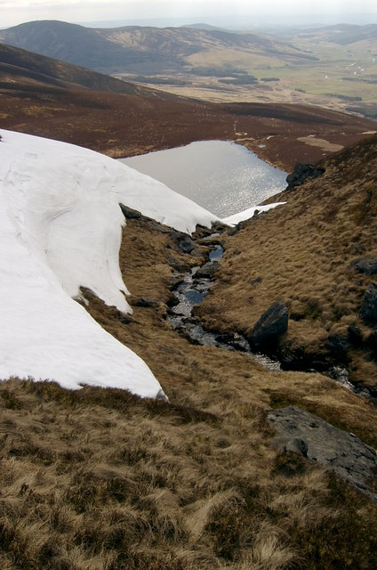 Where the White Burn drops into Loch Wharrol