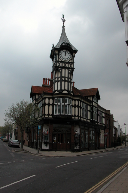 Shop and clocktower, Southsea.