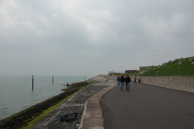 Seawall around Southsea Castle