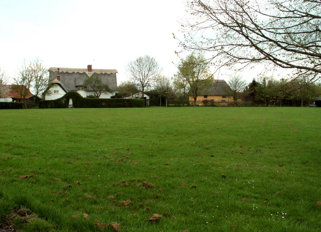 Looking across Burton Green, Withersfield, Suffolk