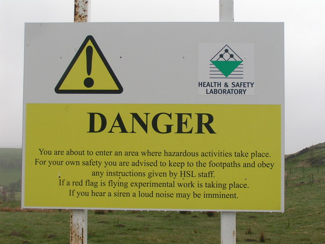 Warning sign, Health and Safety Laboratory