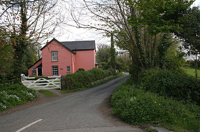 A Red House at Lower Treluswell