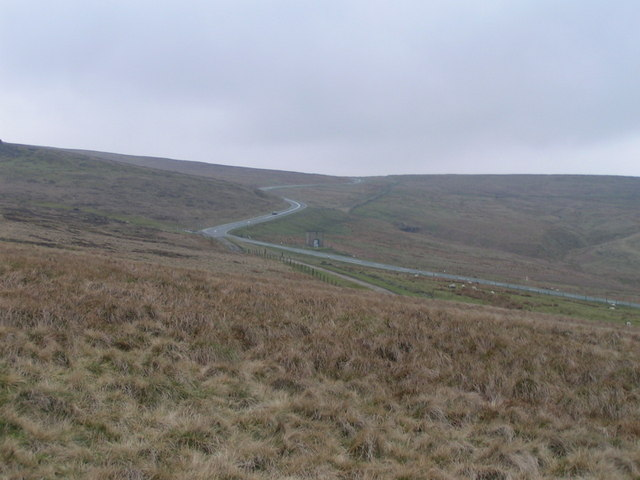 A54 from Axe Edge Moor