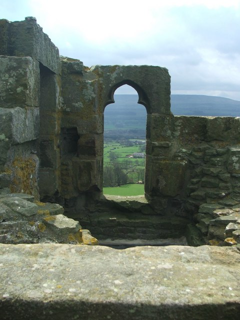 View from the top of Bolton Castle.
