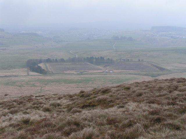 Stanley Moor Reservoir from Axe Edge