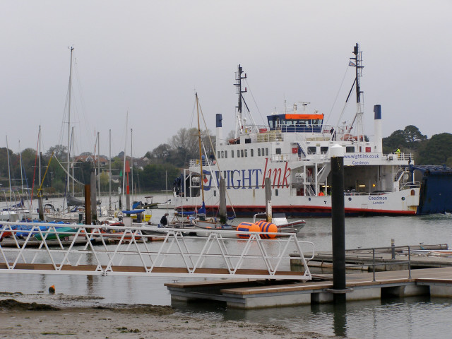 Wightlink ferry approaching the Lymington terminal