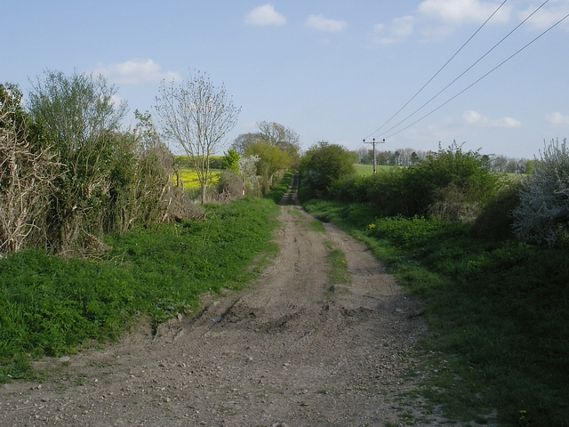 Roman road south east of Newton Stacey