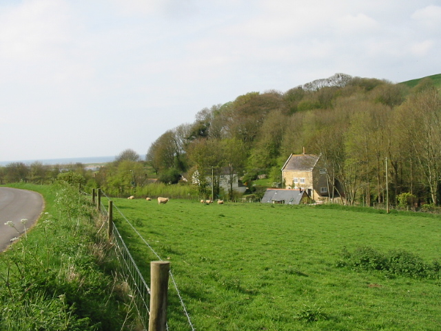 Farmland and cottages, Abbotsbury