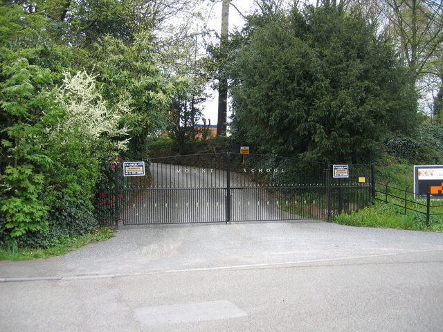 Gates to the former Mount School
