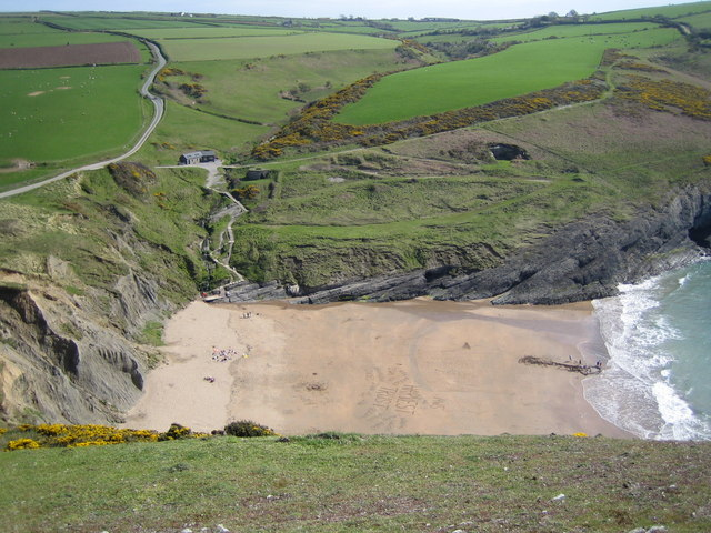 Uncrowded beach at Mwnt