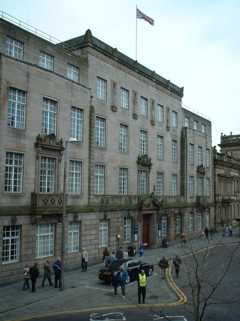 Preston Town Hall, from the Guild Hall balcony