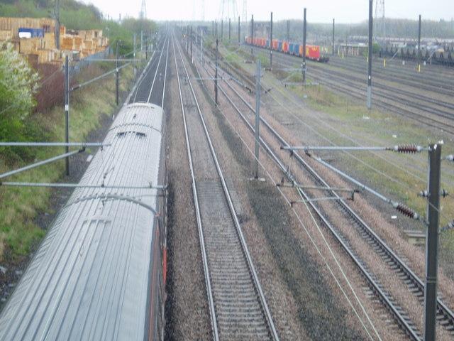 East Coast Mainline at Lamesley, 1st May 2006
