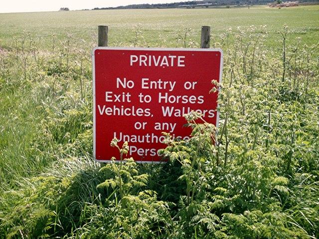 "Beckney Farm - ""Welcome Sign"" on farm track."
