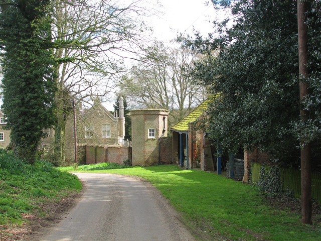 The Approach To Oxcombe Manor
