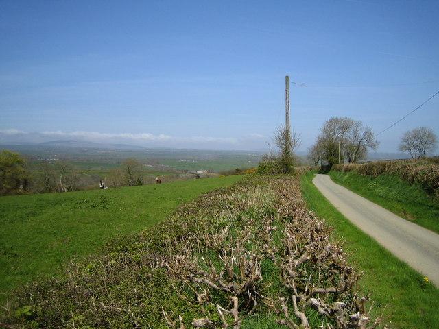 Lane west of Longlands Farm