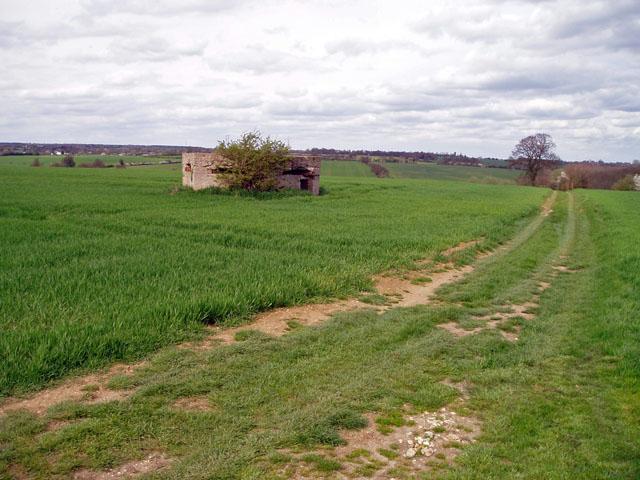 WW2 pillbox near Wimbish Green