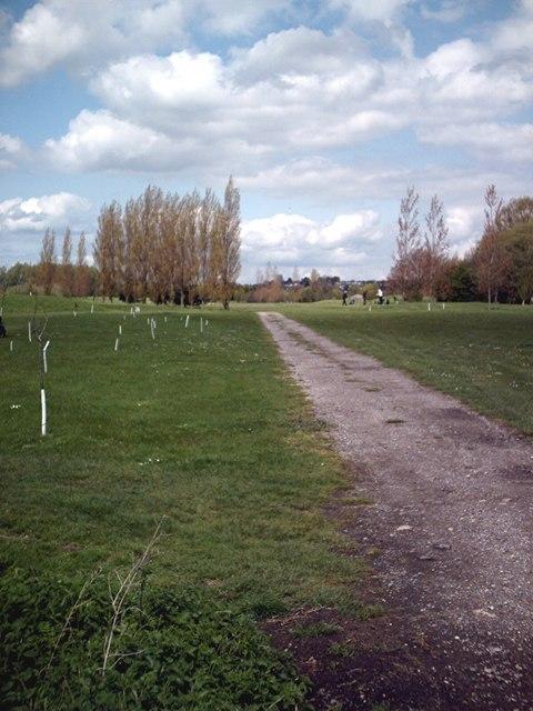 Footpath through Ballards Gore Golf Club