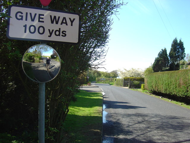 Bridge Road, looking towards the junction with the B2068.