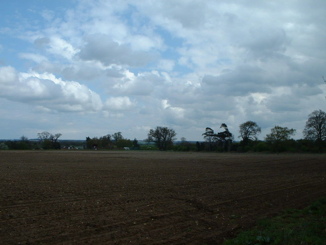 Looking towards the A148 over farmland.