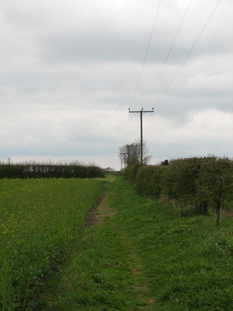 Viking Way Footpath, North Of Ludford.