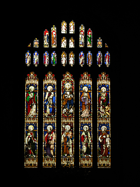 Stained Glass Window : Church at Bibury