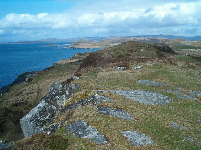 Rocky hilltop on Craignish Peninsula