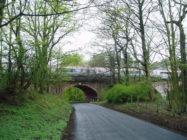 Bridge over Black Dene on the East Coast main line, near Plawsworth, County Durham, 1st May 2006