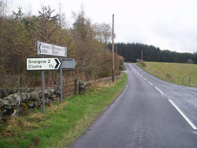 Road junction near Burnside