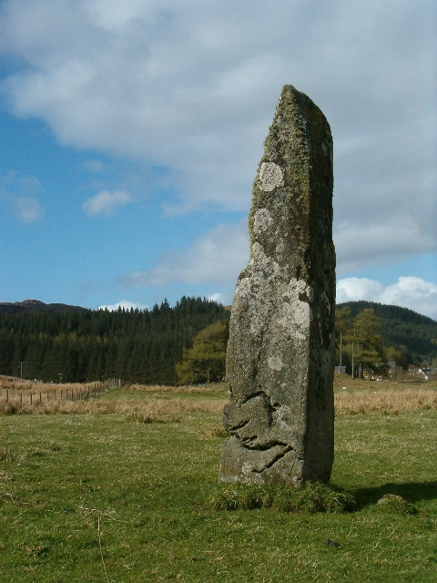 Standing stone in the evening sun