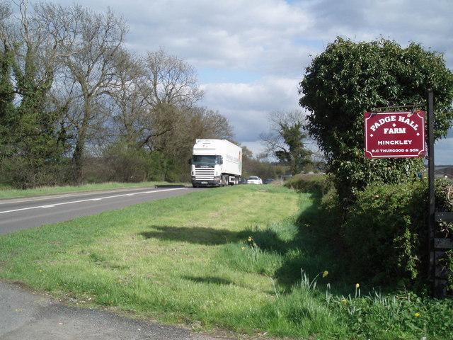 A5 west of Hinckley