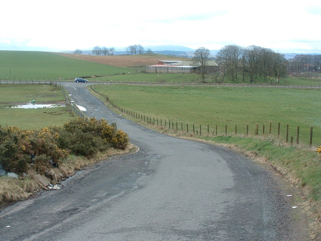 Junction of Ryeflat Road and the A721