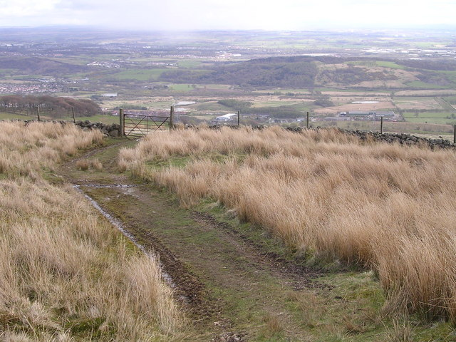 Track leading down from Birkenburn Reservoir