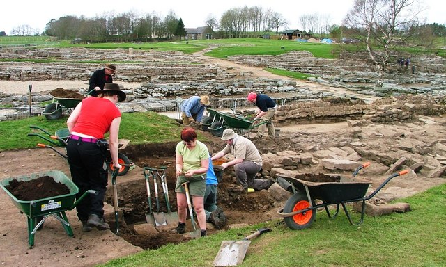 Archaeologists at Work in Vindolanda