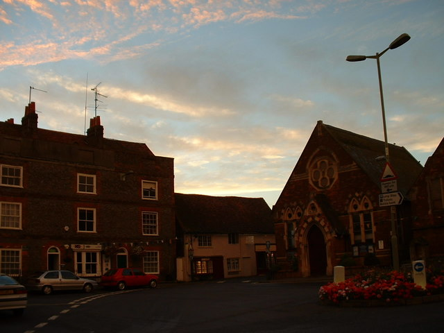 Wallingford at sunset.