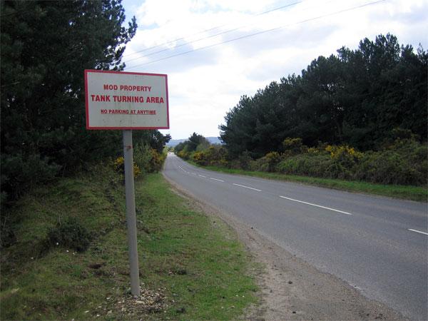 Tank turning area near Bovington Camp