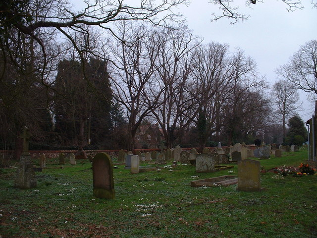 Graveyard in spring.