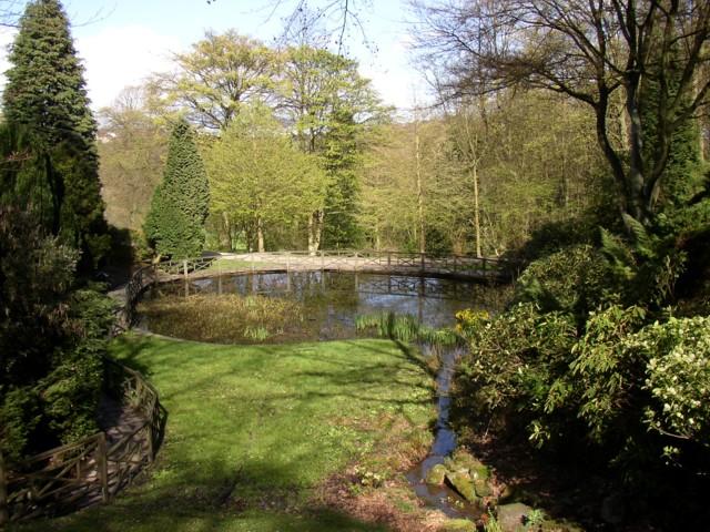 Pond in Shibden Hall garden, Southowram, Halifax