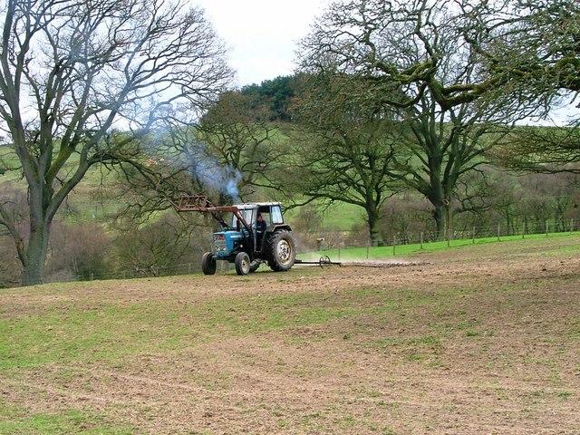 Farmer Harrowing above Low Fogrigg