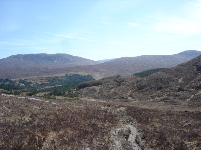 Footpath to Gairich near Loch Quoich