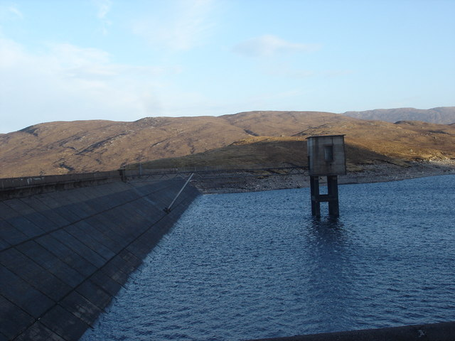 Evening view of Loch Quoich Dam