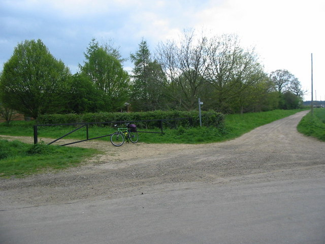 Junction of Track to Woodcroft Lodge