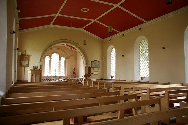 Interior of Talkin Church, Talkin, Brampton