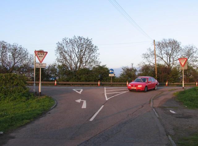 School Lane/A1 junction