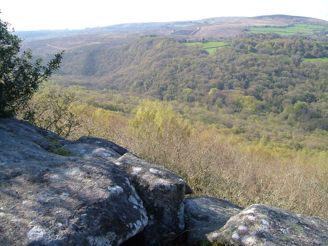 Bovey valley from Lustleigh Cleave